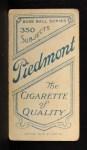 1909 T206 #83  Dode Criss  Back Thumbnail