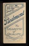 1909 T206  Fred Payne  Back Thumbnail