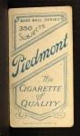1909 T206 #319 THR Boss Schmidt  Back Thumbnail