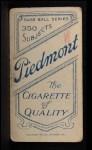 1909 T206  Dick Rudolph  Back Thumbnail