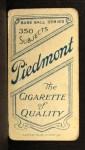 1909 T206 FOL Howie Camnitz  Back Thumbnail