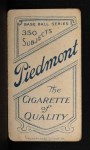 1909 T206  Charlie Rhodes  Back Thumbnail