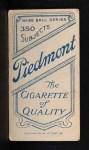 1909 T206 THR Ed Willett  Back Thumbnail