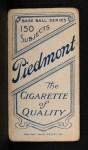 1909 T206 xCAP Doc Crandall  Back Thumbnail