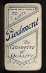 1909 T206 #63  Jack Chesbro  Back Thumbnail