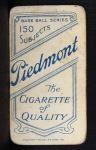1909 T206 WAS Jim Delehanty  Back Thumbnail
