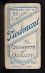 1909 T206 THG Rube Marquard  Back Thumbnail