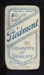 1909 T206 #68 CLE J. J. Clarke  Back Thumbnail