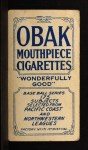 1910 T212 Obak OAK William Hogan  Back Thumbnail