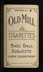 1910 T210-2 Old Mill Virginia League  Kirkpatrick  Back Thumbnail