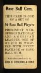 1909 E92 Dockman #5  Al Bridwell  Back Thumbnail