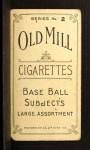 1910 T210-2 Old Mill Virginia League  Hoffman  Back Thumbnail