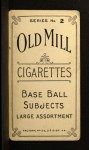 1910 T210-2 Old Mill Virginia League  Loos  Back Thumbnail