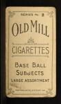 1910 T210-2 Old Mill Virginia League  Cefalu  Back Thumbnail