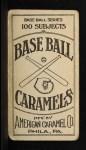 1909 E90-1 American Caramel  Jimmy Dygert  Back Thumbnail