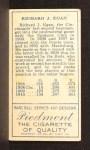 1911 T205  Dick Egan  Back Thumbnail