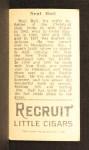 1912 T207 #6  Neal Ball    Back Thumbnail