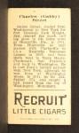1912 T207  Gabby Street    Back Thumbnail