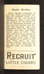 1912 T207  Beals Becker    Back Thumbnail