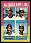 1975 Topps #616   -  Jim Rice / Dave Augustine / Pepe Mangual / John Scott Rookie Outfielders   Front Thumbnail