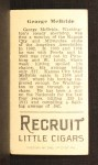 1912 T207 #115  George McBride    Back Thumbnail