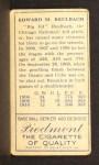 1911 T205  Ed Reulbach  Back Thumbnail