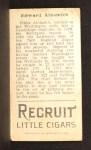 1912 T207  Eddie Ainsmith    Back Thumbnail