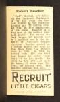 1912 T207  Bob Bescher  Back Thumbnail
