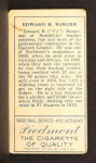 1911 T205 FUL Cy Barger  Back Thumbnail