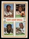 1974 Topps #4   -  Hank Aaron Hank Aaron Special 62-65 Front Thumbnail
