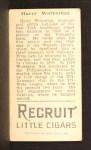 1912 T207  Harry Wolverton    Back Thumbnail