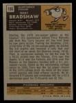 1971 Topps #156  Terry Bradshaw  Back Thumbnail