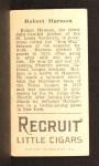 1912 T207  Bob Harmon  Back Thumbnail