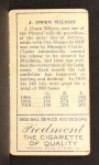 1911 T205  Owen Wilson  Back Thumbnail