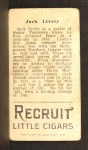 1912 T207  Jack Lively    Back Thumbnail