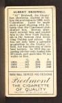 1911 T205 #25  Al Bridwell  Back Thumbnail