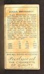 1911 T205 #22 CLS Roger Bresnahan   Back Thumbnail