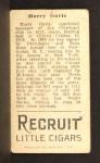 1912 T207  Harry Davis    Back Thumbnail