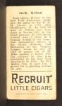 1912 T207  Jack Quinn    Back Thumbnail
