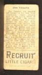 1911 T205  Hippo Vaughn  Back Thumbnail