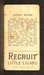 1912 T207  Art Devlin    Back Thumbnail