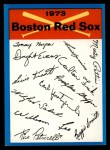 1973 Topps Blue Team Checklists #3   Boston Red Sox Front Thumbnail