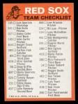 1973 Topps Blue Team Checklists #3   Boston Red Sox Back Thumbnail