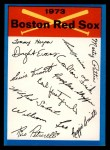 1973 Topps Blue Checklist   Red Sox Front Thumbnail