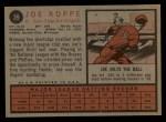 1962 Topps #39  Joe Koppe  Back Thumbnail