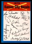 1973 Topps Blue Team Checklists #11   Kansas City Royals Front Thumbnail