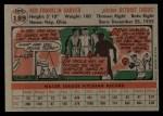 1956 Topps #189  Ned Garver  Back Thumbnail