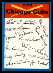 1973 Topps Blue Checklist   Cubs Front Thumbnail