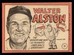1969 Topps #24 ^COR^ Walter Alston  Back Thumbnail