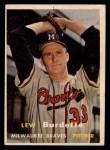 1957 Topps #208  Lew Burdette  Front Thumbnail